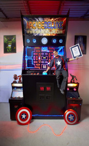 Jason Camberis – Largest Arcade Machine Guinness World Records 2015 Photo Credit: Kevin Scott Ramos/Guinness World Records